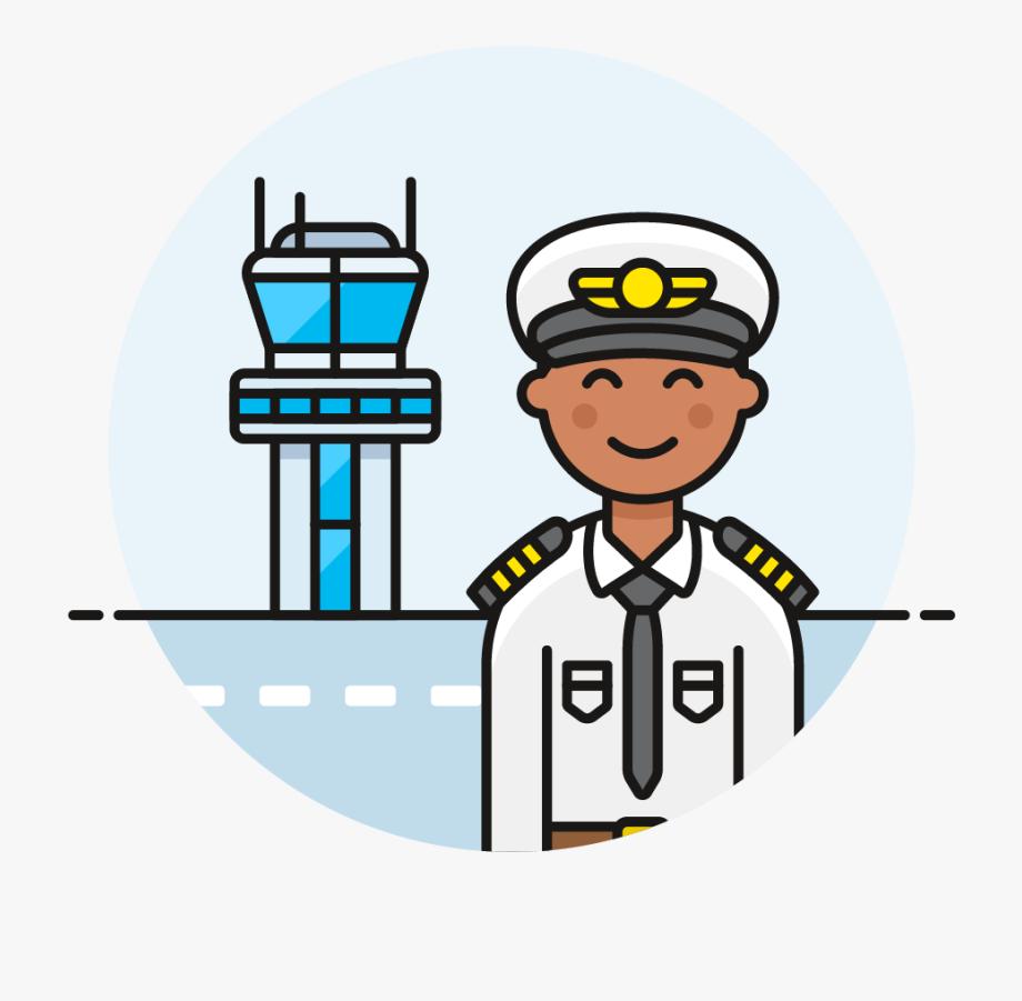 Captain Clipart Male Pilot.