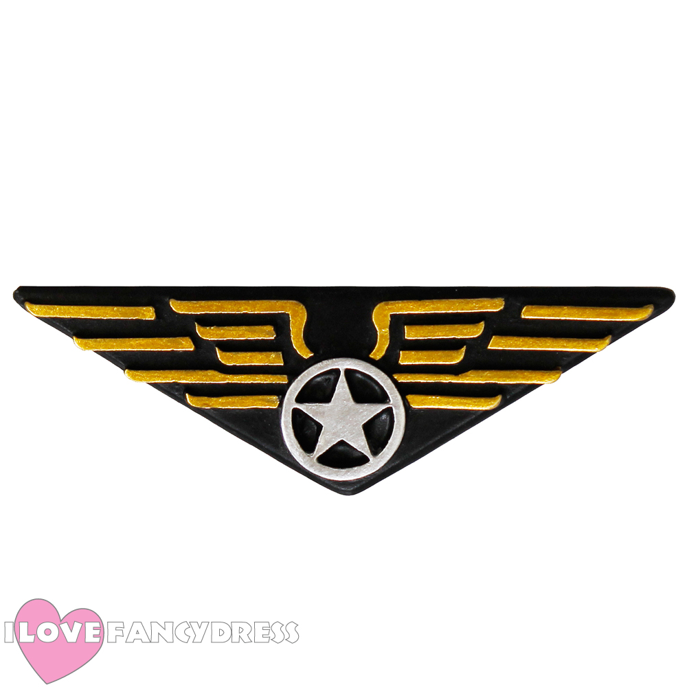 Details about PILOT CAP ACCESSORIES CHOOSE AIRLINE FIGHTER CAPTAIN AVIATOR  80S BADGE UNIFORM.