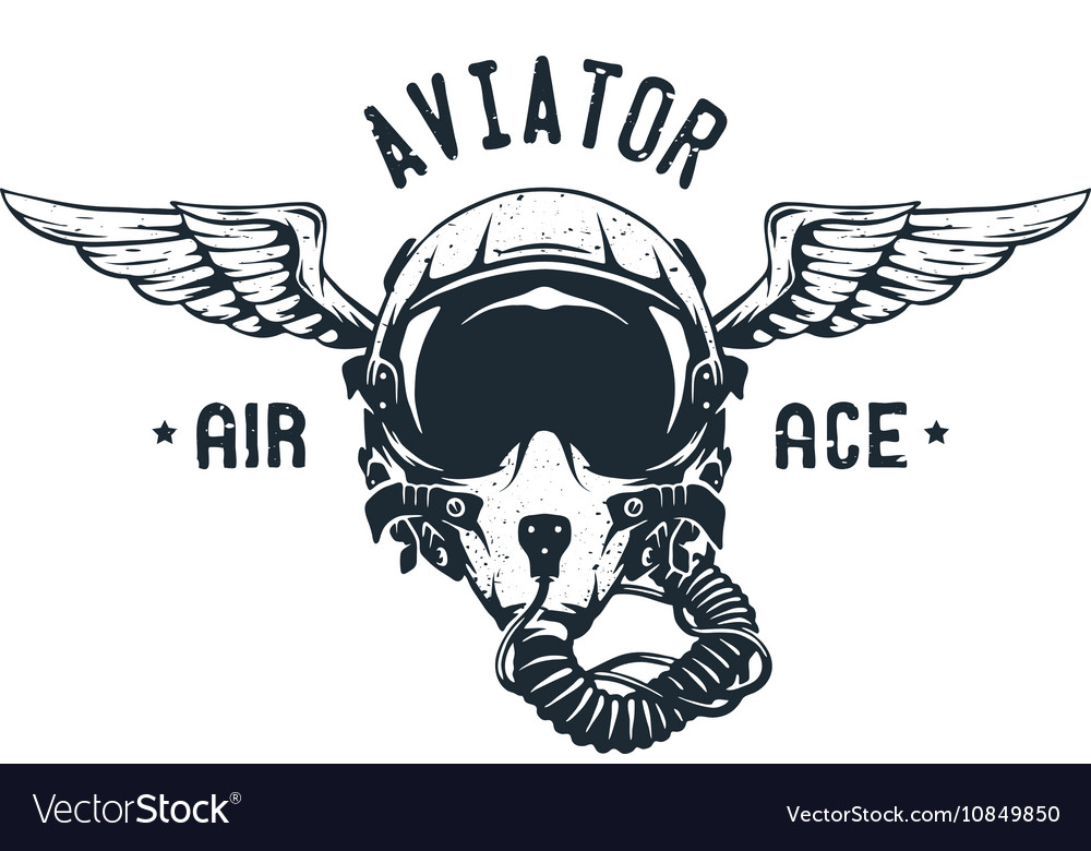 Fighter Pilot Helmet Emblem.