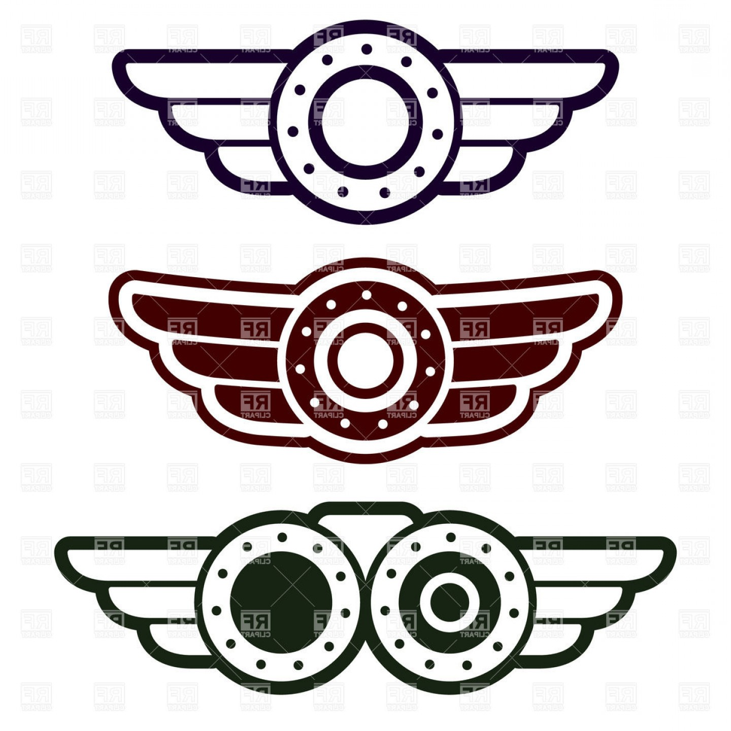 Pilot Wings Clipart.