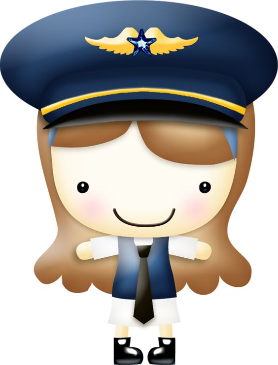 Brown haired airline pilot.