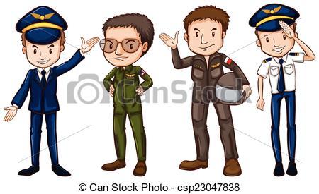 Pilots Clip Art.
