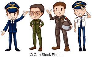 Clip Art Vector of Pilots..