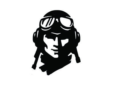 Fighter Pilot Icon.