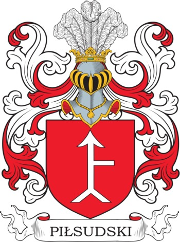 Pilsudski Coat of Arms Meanings and Family Crest Artwork.