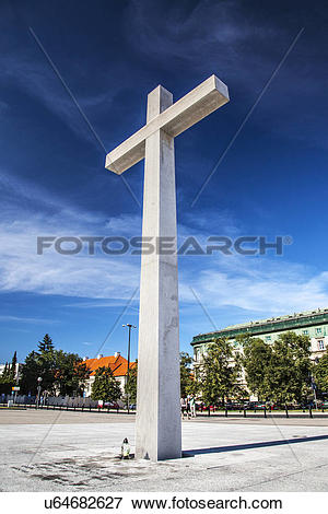 Picture of Poland, Mazovia Province, Warsaw. The 9m high white.