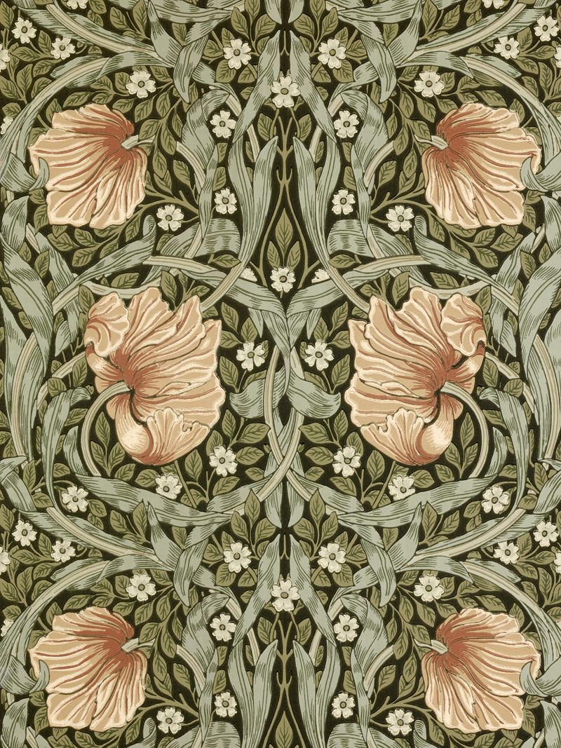 William morris clipart pimpernel.