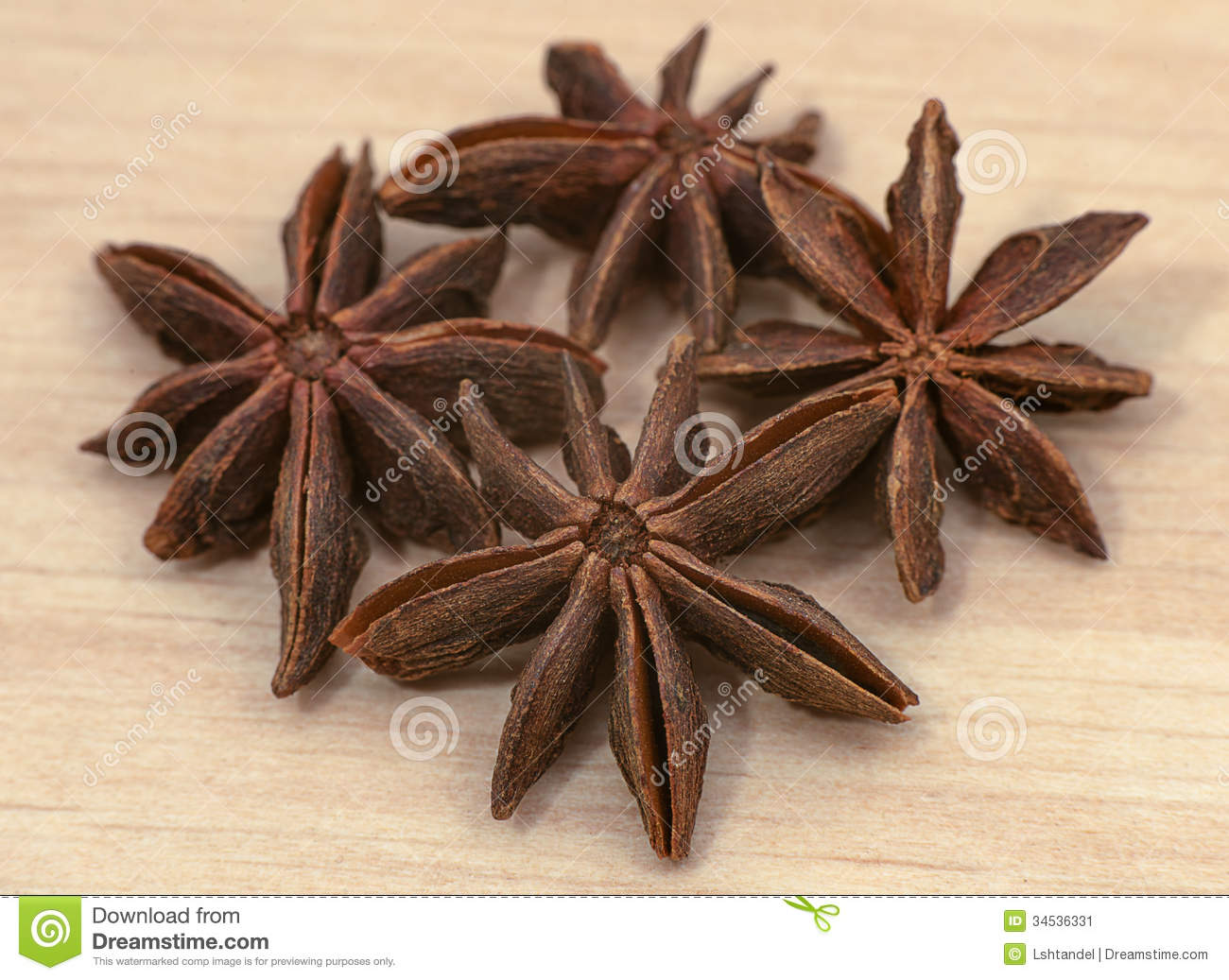 Star Anise. Dried Seeds Of The Plant Pimpinella Anisum L. Stock.