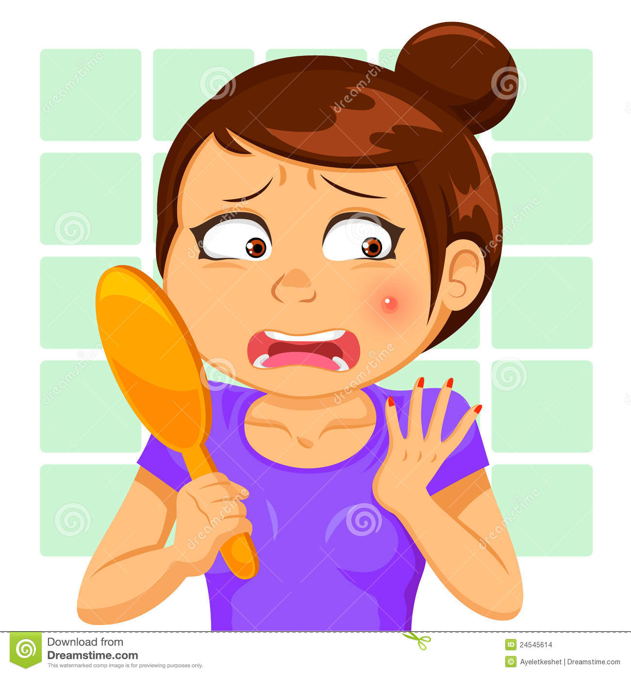 Girl With A Pimple Stock Images.