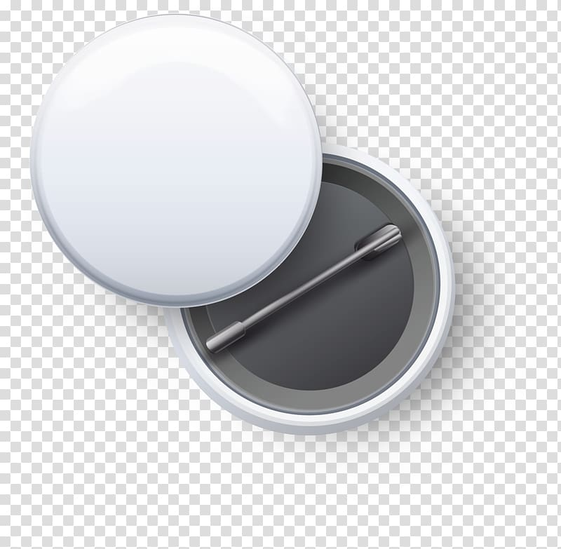 White and black pinback button , Badge Button Pin.