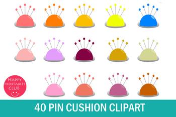 40 Pin Cushion Clipart.