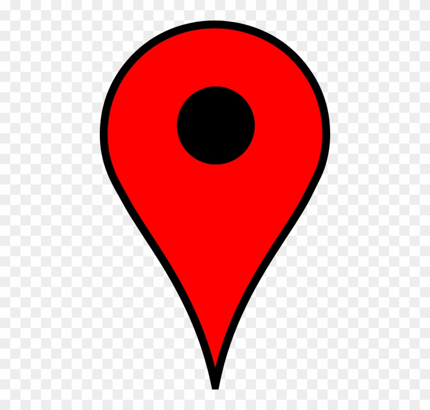 Location Poi Pin Marker Position Red Map.