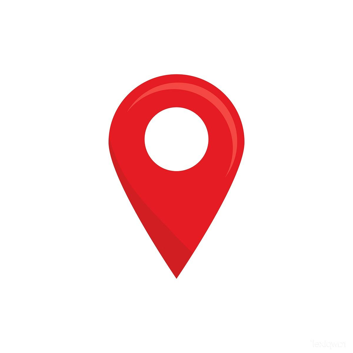 Unique Red Map Pin Icon Vector File Free » Free Vector Art.