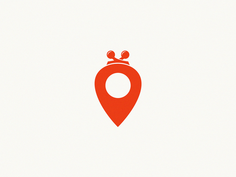 pin location + purse / logo idea by Yuri Kartashev on Dribbble.