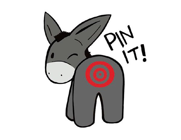 Design for a brand: Pin the tail on the donkey on Behance.
