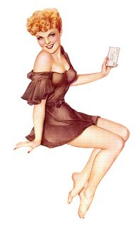 Clipart pin up girl.