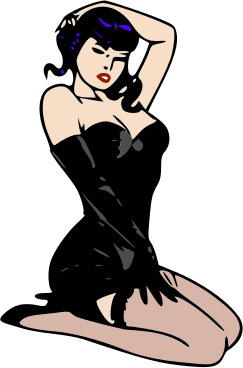 Pin up girl clip art.