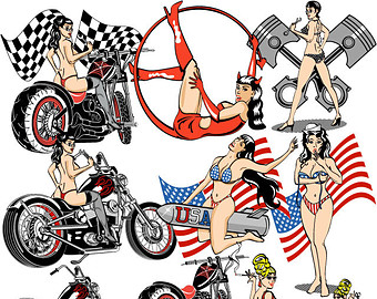 Pin up clip art.