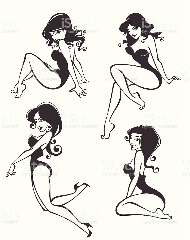 Pin Up Girl Clip Art, Vector Images & Illustrations.