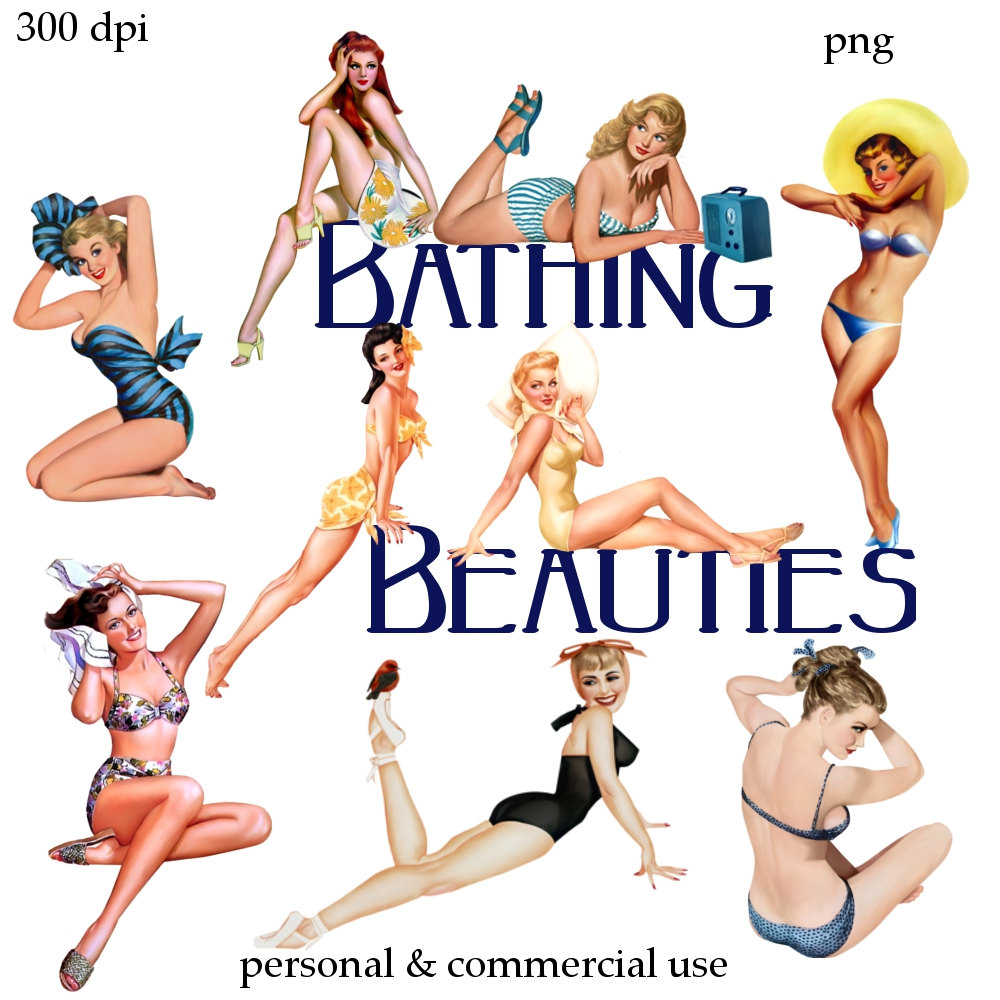 Pin up girl clipart.