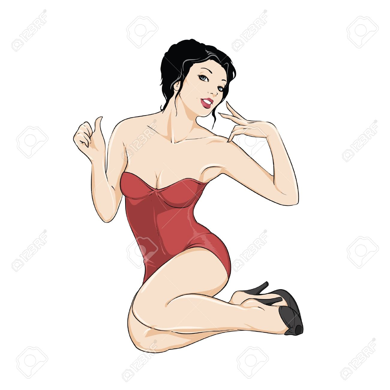 14+ Pin Up Girl Clipart.