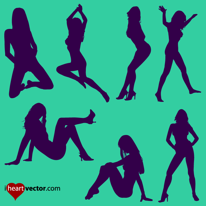 Free Pin Up Girl Silhouette Vector, Download Free Clip Art.