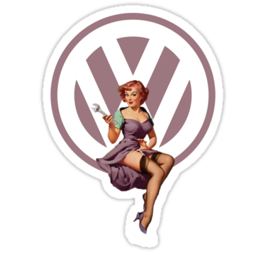 Vw Pin Up Girl Clipart.