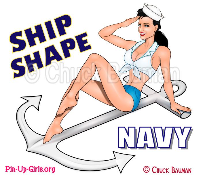 Navy Pin Up Girls.