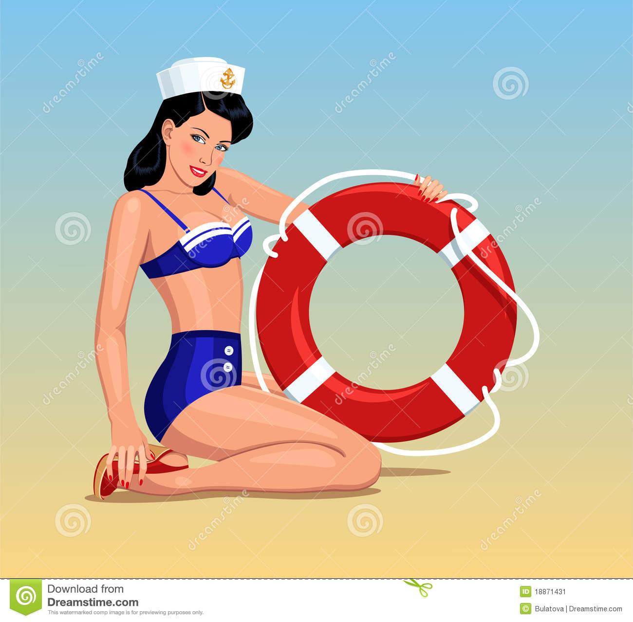 Sailor Girl Pin.