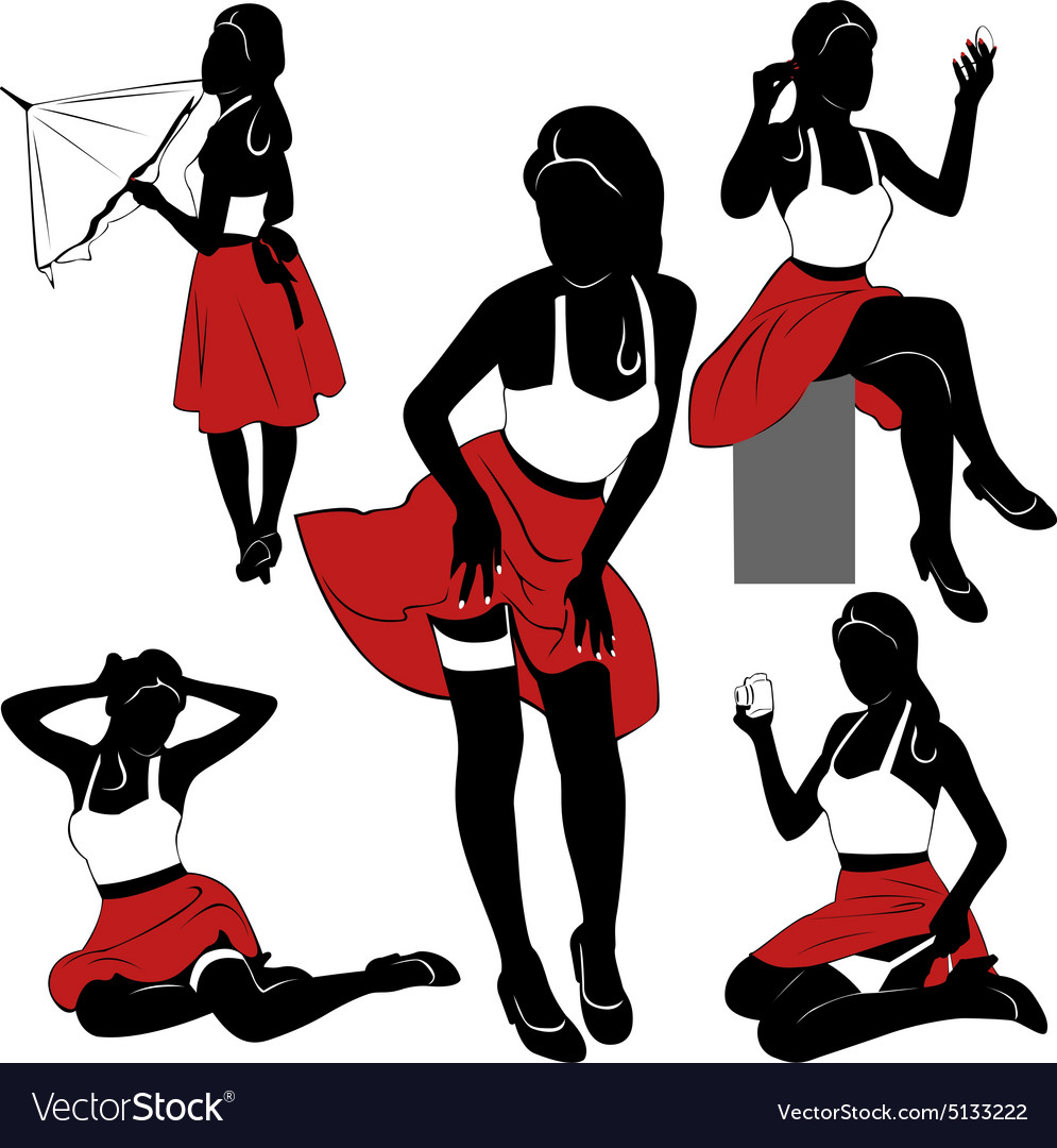 Pin up silhouettes.