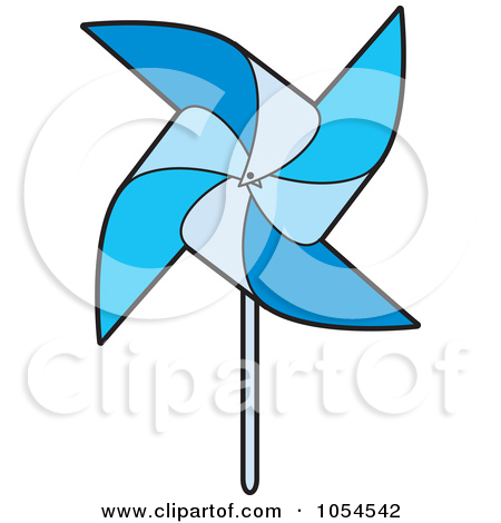 Clipart of a Colorful Spinning Pinwheel.