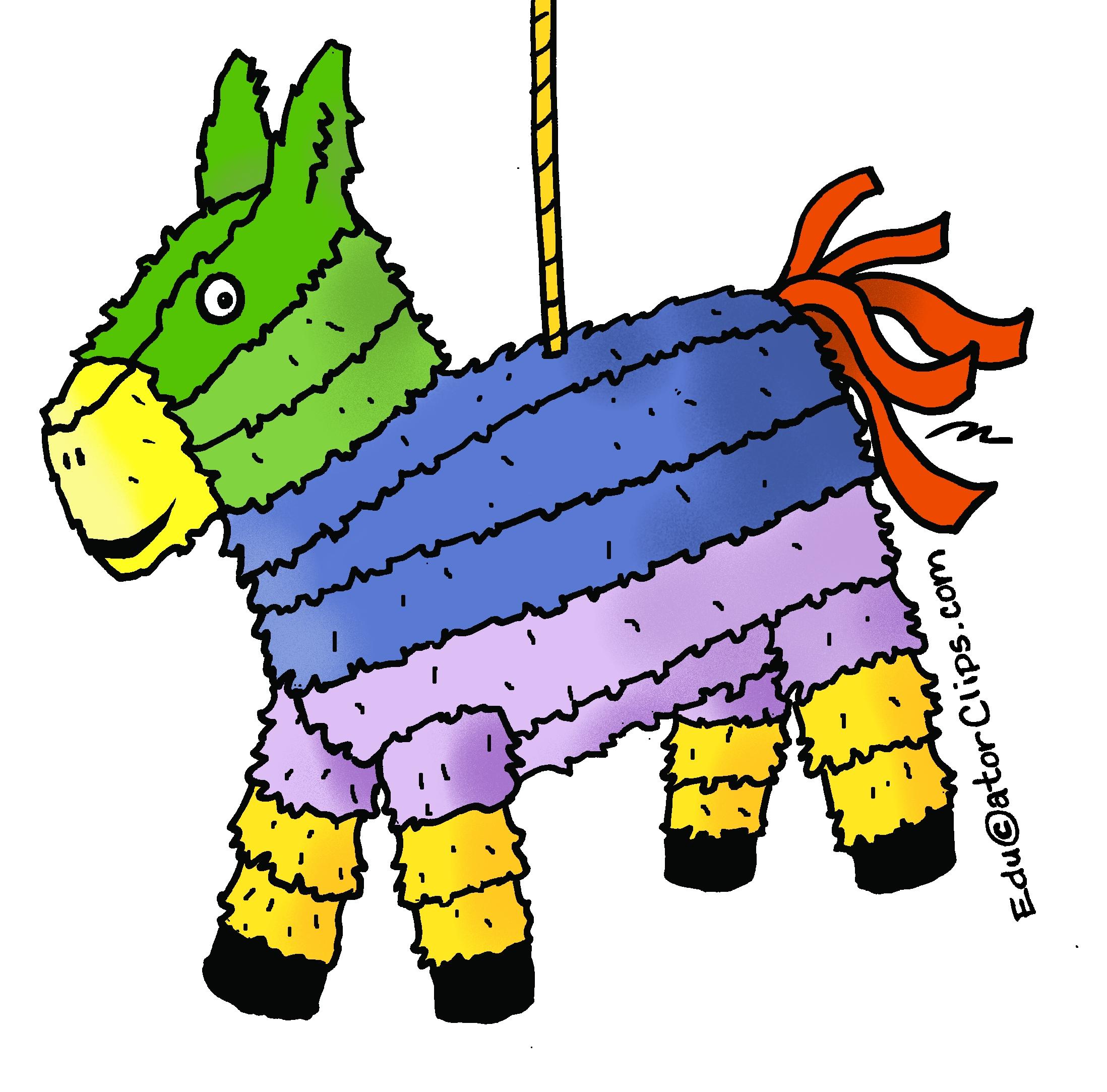 Piñata Clip Art for teachers.
