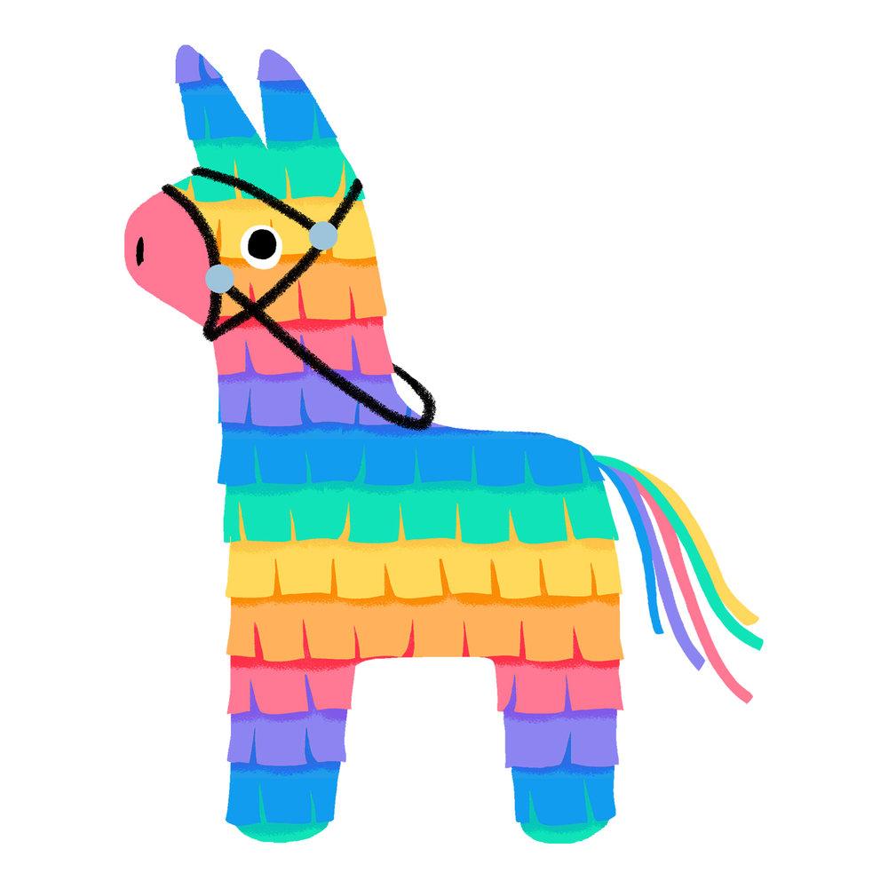 Donkey Pinata Cliparts.