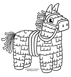 Pinata Clipart Black And White (100+ images in Collection.