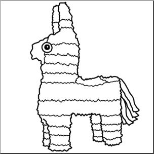 Pinata clipart black and white 2 » Clipart Station.