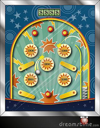 Pinball Stock Illustrations.