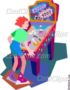 pinball machine Vector Clip art.