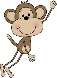 Cute Monkey Clip Art.