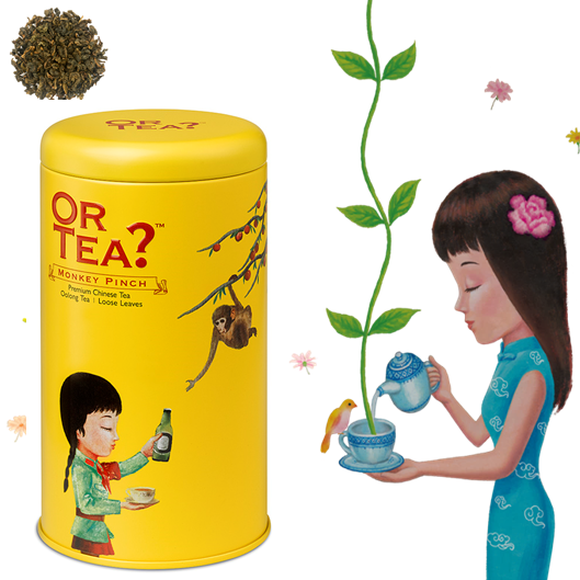 Or Tea Monkey Pinch Oolong tea loose.