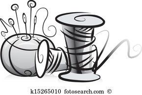 Pincushion Clip Art Illustrations. 201 pincushion clipart EPS.
