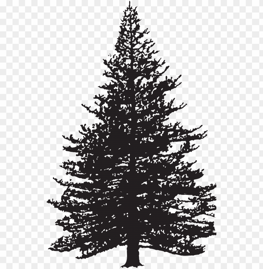 ine tree silhouette clip art image.