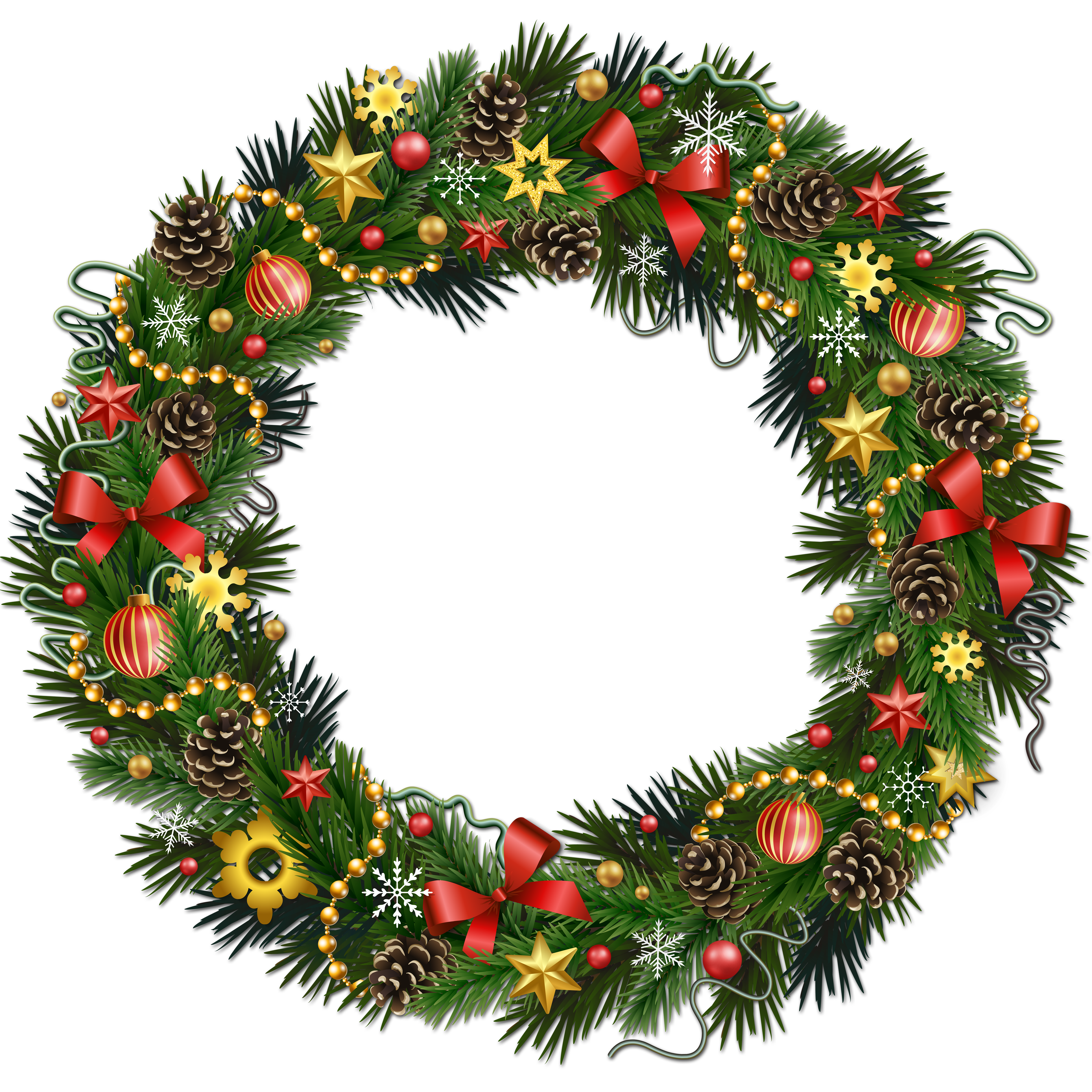 Rudolph Christmas Wreath Clip art.