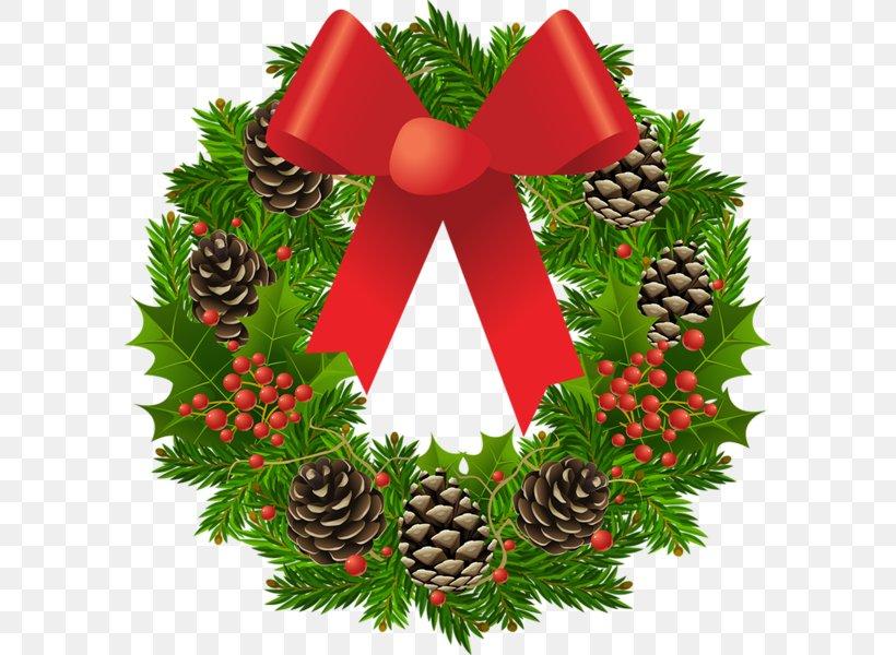 Christmas Wreath Garland Santa Claus Clip Art, PNG.