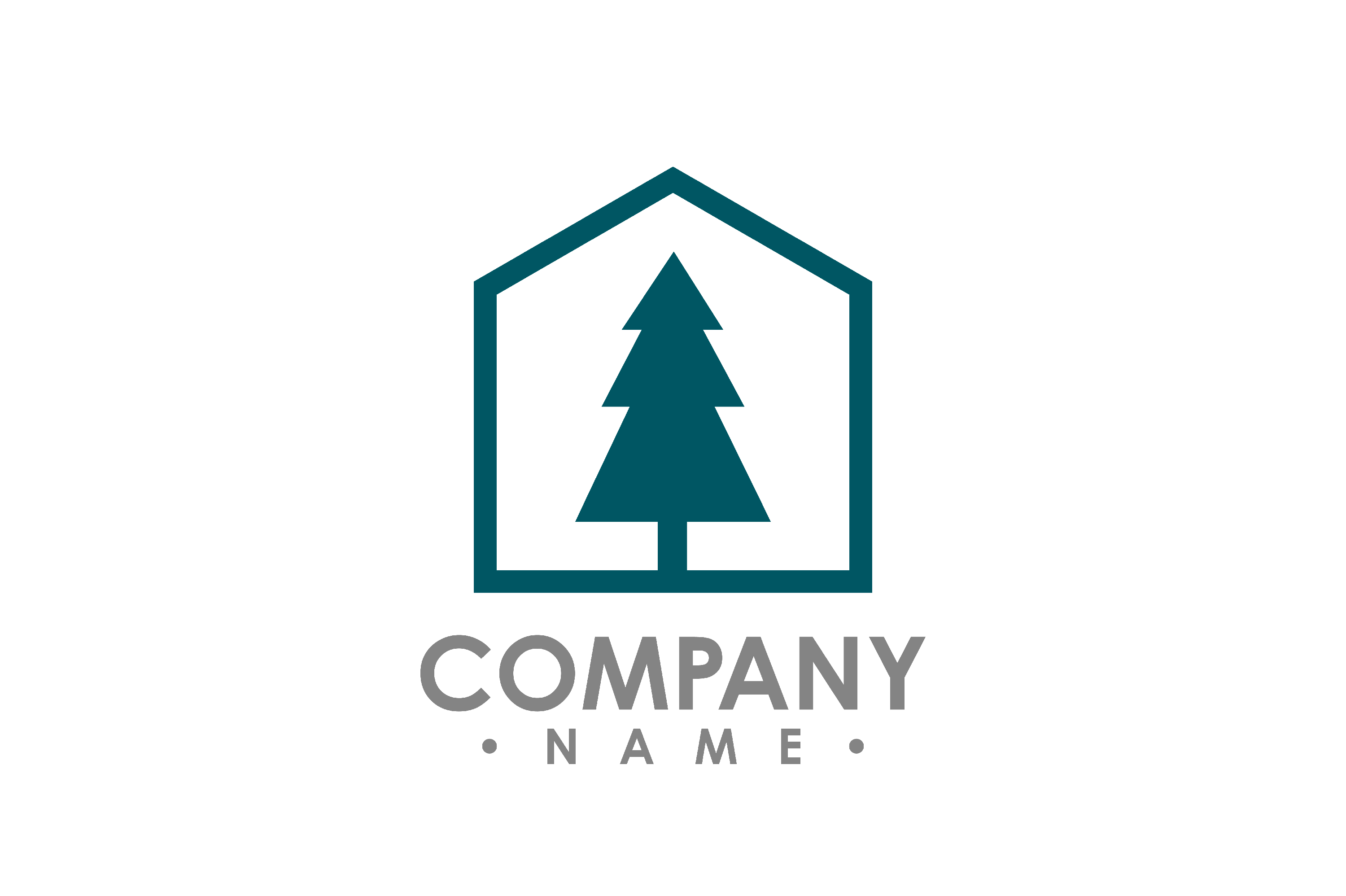 Pine Tree outdoor travel green silhouette forest logo.