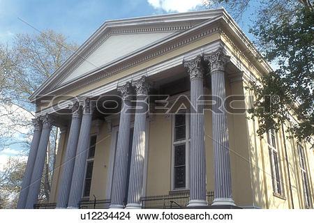 Stock Photo of Philadelphia, Pennsylvania, church, Old Pine Street.