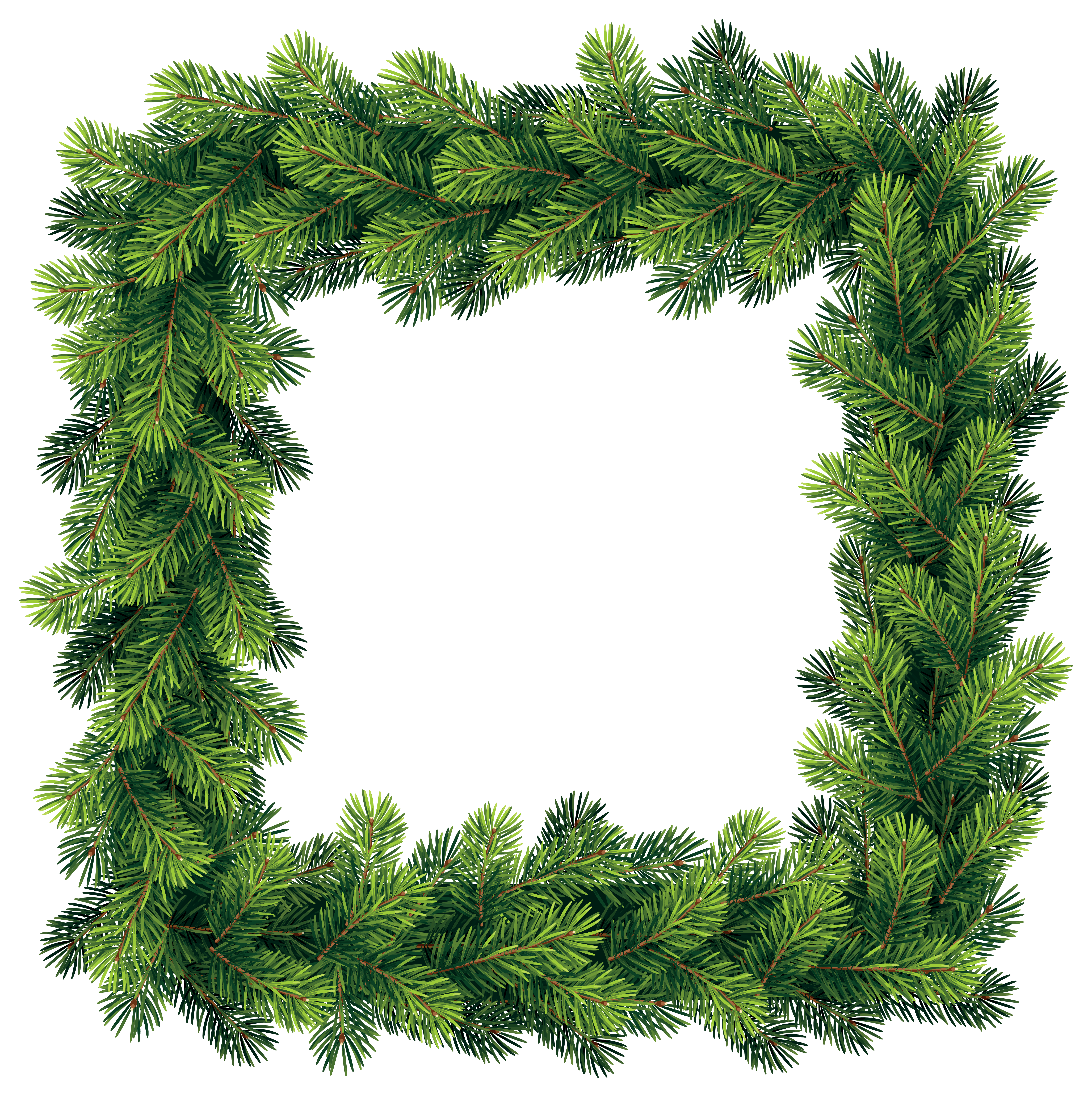Pine tree border clipart images gallery for free download.