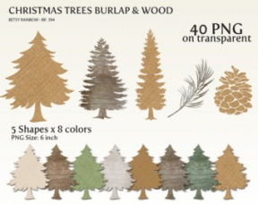 Pine Tree Cross Clipart.