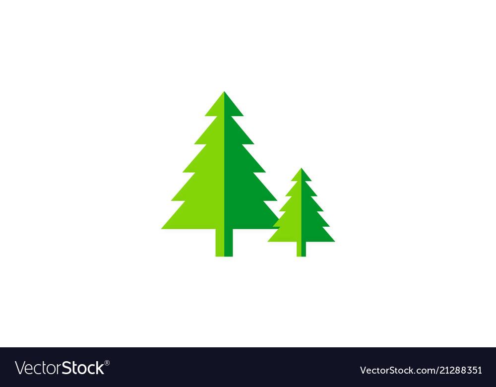 Pine tree green nature logo.
