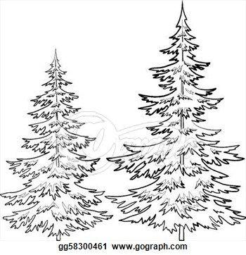 Pine Tree Outline Clip Art.