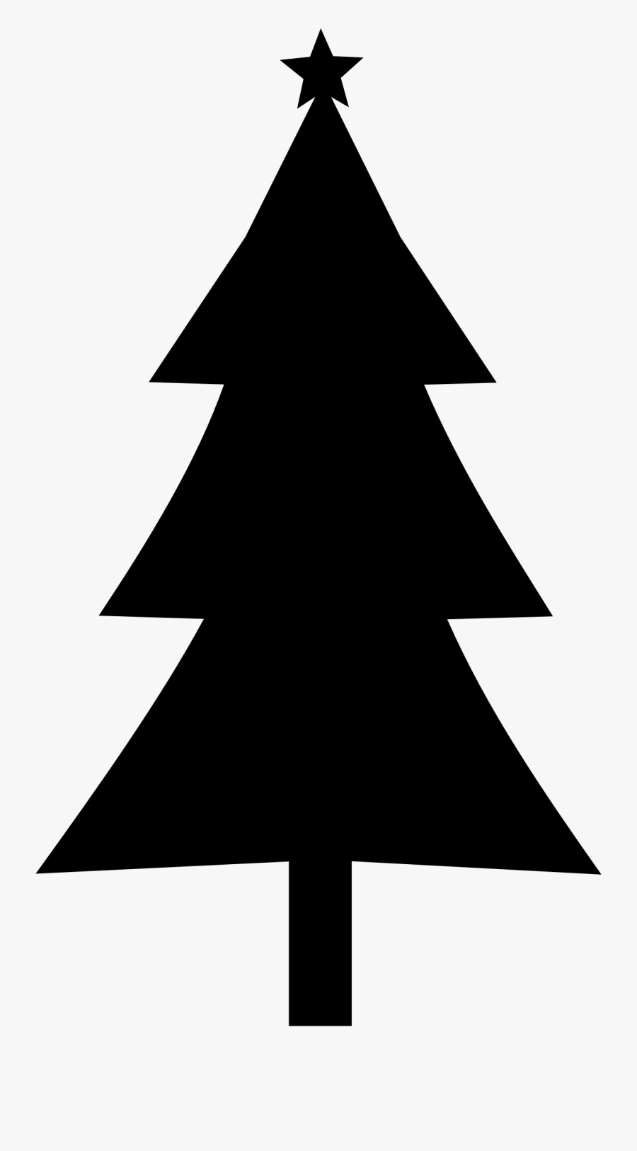 Christmas Tree Clipart Outline.